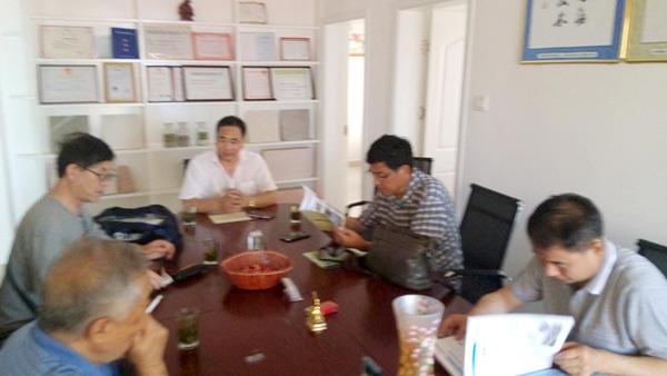 河南省建科院院长栾景阳及相关领导汪之祯、魏清林、李建民到我公司考察指导